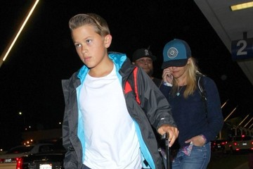 Reese Witherspoon Reese Witherspoon and Son Deacon Land at LAX