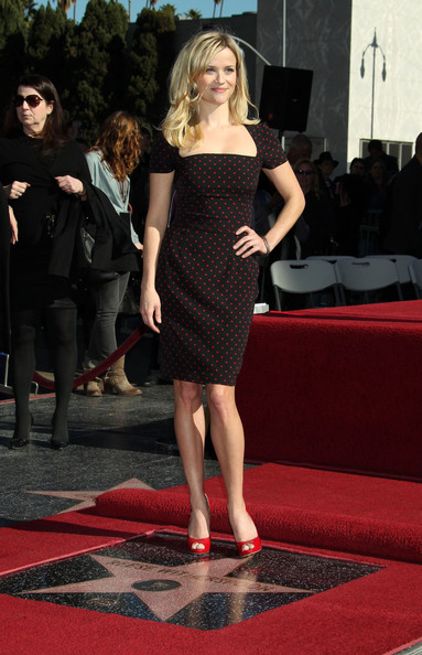 Actress Reese Witherspoon receiving the 2,425th Star on the Hollywood Walk of Fame in Hollywood, CA.