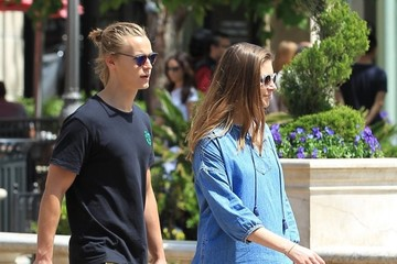 Rhys Wakefield Rhys Wakefield and Caitlin Stasey Shop at the Grove in Hollywood