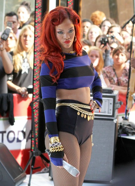 Rihanna Singer Rihanna performs on the 'Today Show' in New York City.