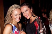 Celebrities attending the Riva New Years Eve Party at St. Kilda, Melbourne, Australia.