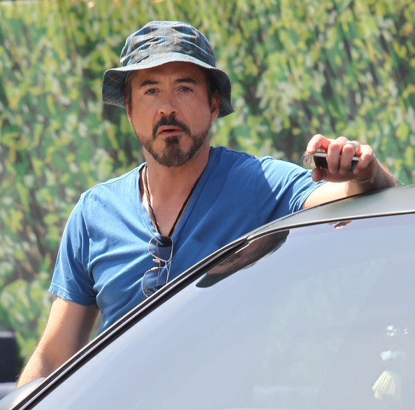 robert downey jr in robert downey jr leaving a friends house zimbio. Black Bedroom Furniture Sets. Home Design Ideas