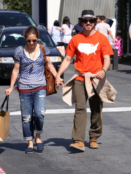 Actor Robert Downey Jr. and his wife