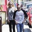 Roberto Zincone Malin Akerman Out to Lunch with Her Husband