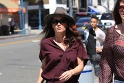 'The Mentalist' actress Robin Tunney is spotted looking stylish in a maroon jumper as she and a friend grab lunch in Beverly Hills, California on March 29, 2017.