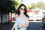 'The Mentalist' actress Robin Tunney leaving the gym in West Hollywood, California on January 22, 2014.