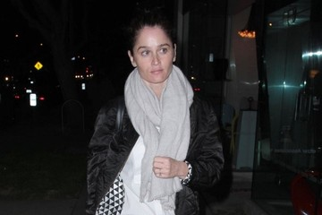 Robin Tunney Celebs Grab Dinner at Madeo in West Hollywood
