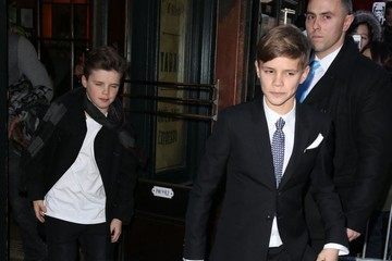 Romeo Beckham Victoria and David Beckham Take Their Kids to Dinner after the Victoria's Fashion Show