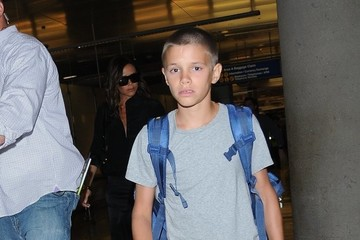 Romeo Beckham David Beckham & Family Depart From LAX Airport