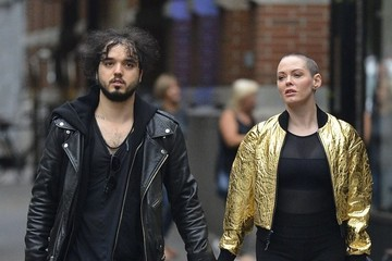 Rose McGowan Rose McGowan and Her Husband Are Seen Walking in Soho