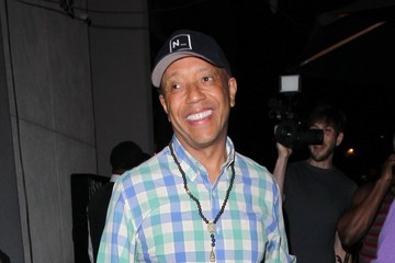 Russell Simmons Celebs Get Dinner in West Hollywood