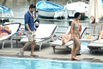 Ruth Negga  Dominic Cooper Relaxes Poolside With Ruth Negga