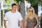 Olympic swimmer Ryan Lochte and his pregnant girlfriend Kayla Reid were seen leaving a lunch outing in West Hollywood, California on March 24, 2017.
