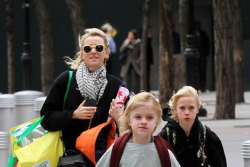 Samuel Schreiber Naomi Watts Shops with Her Sons in NYC