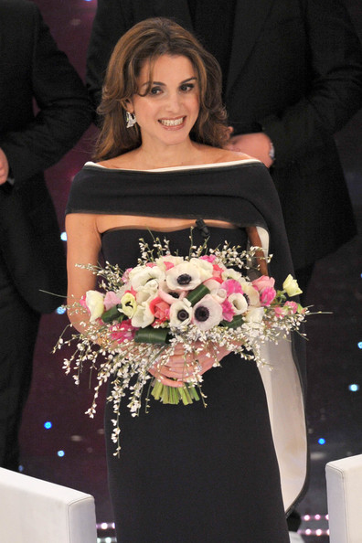 Queen Rania Celebrities attend the San Remo Music Festival 2010 in Italy.
