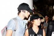 'Modern Family' actress Sarah Hyland and her boyfriend Matt Prokop arriving on a flight at LAX airport in Los Angeles, California on February 28, 2014.