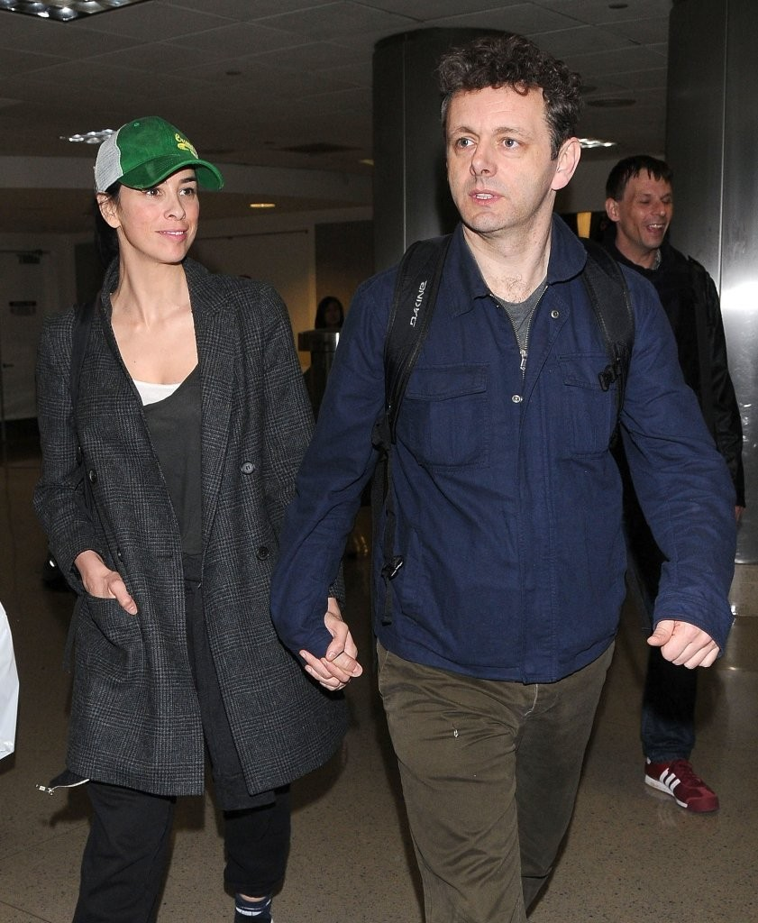 Sarah Silverman and Michael Sheen at LAX - Zimbio