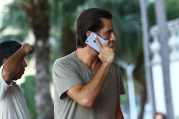 Scott Disick The Kardashian Family and Friends Go Out in Florida