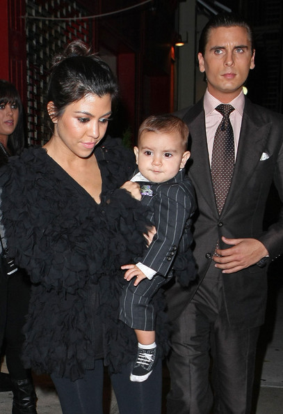 Scott Disick and Mason Disick - Kim Kardashian And Family Leaving Her 30th Birthday Party