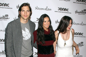 Scout Willis Demi Moore And Ashton Kutcher At The 'Real Men Don't Buy Girls' Launch Party