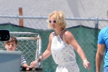 Sean Preston Federline Britney Spears Watches Her Son Play Soccer