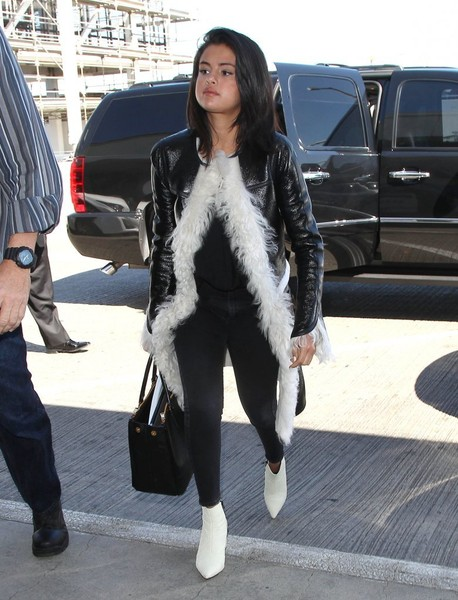 Selena Gomez Catches a Flight at LAX