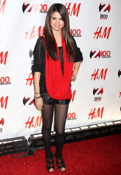 Selena Gomez Celebrities at Z100's Jingle Ball 2010 presented by H&M at Madison Square Garden in New York City, NY.