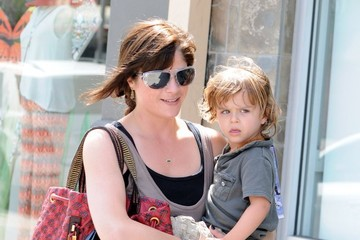 Selma Blair Selma Blair Stops by Starbucks with Her Son