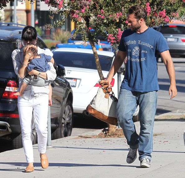 Selma Blair And Son Arthur Out With A Friend In Studio City