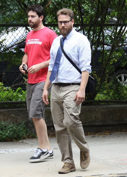 Seth Rogan Christmas.The Untitled Christmas Eve Project Films In Nyc 1 Of 8 Zimbio