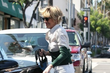 Sharon Stone Sharon Stone Out For Lunch And Shopping In Beverly Hills