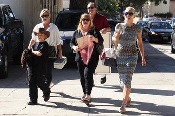 Sharon Stone Roan Bronstein Sharon Stone And Son Roan Shopping In West Hollywood