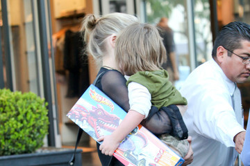 Sharon Stone Quinn Stone Sharon Stone And Son Out Toy Shopping In Beverly Hills