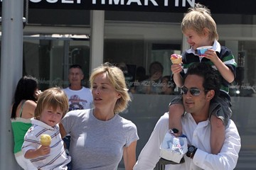 Sharon Stone Quinn Stone Sharon Stone And Her Sons Out With A Mystery Man