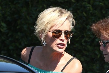 Sharon Stone Sharon Stone Lunches at Cecconi's