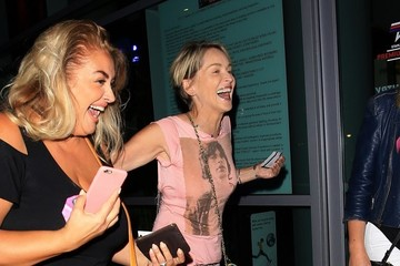 Sharon Stone Celebrities Go to the Adele Concert