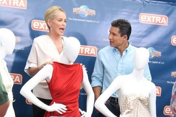 Sharon Stone Celebs Stop by 'Extra'