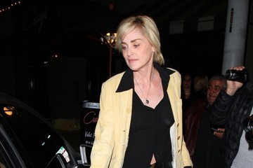 Sharon Stone Celebrities Enjoy A Night Out At Craig's Restaurant