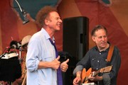 Simon & Garfunkel performing live at the New Orleans Jazz and Heritage Festival in New Orleans, LA