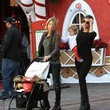 Skyler Perri Elisabetta Canalis & Her Daughter Skyler Visit The Santa House At The Grove