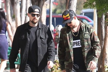 Sparrow Madden Joel and Benji Madden Out in West Hollywood