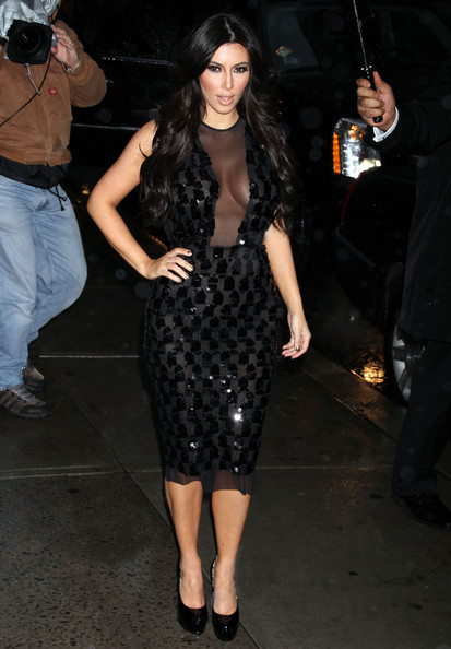 Kim+Kardashian in Stars At The 'Late Show With David Letterman'