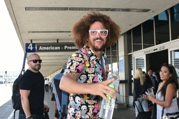 Stefan Gordy Redfoo Catches a Flight Out of LAX Airport