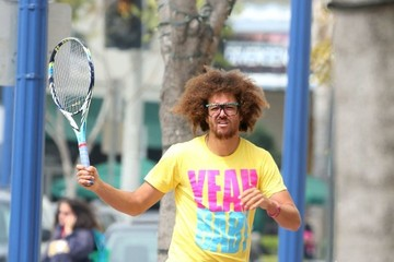 Stefan Gordy Redfoo Plays Tennis With An Invisible Friend