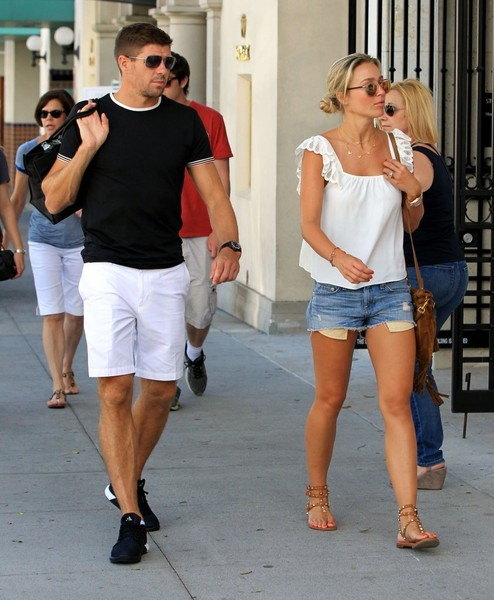 Steven Gerrard and Alex Curran Hang Out in Beverly Hills