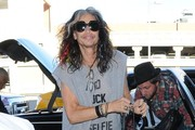 Steven TylerDeparting On A Flight At LAX