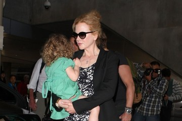 Sunday Rose Urban Nicole Kidman and Family Arrive at LAX