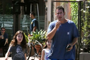 Sunny Sandler Adam Sandler Takes His Daughters to Breakfast