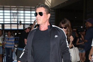 Sylvester Stallone Sylvester Stallone & Family Departing On A Flight At LAX