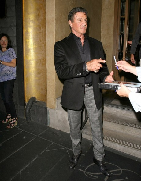 Sylvester Stallone Dines Out At Rivabella